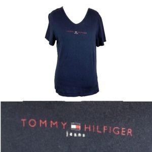 Tommy Hilfiger VNeck T-Shirt Navy Large